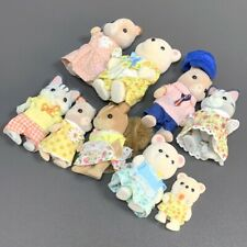 Lot 9 Sylvanian Families Calico Critters Cat Animals Family Figure Dollhouse Toy