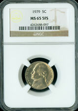 1979 JEFFERSON NICKEL NGC MS65 FS 2ND FINEST GRADE POP-17 RARE  GC .