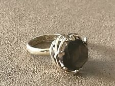 Taxco Honey Quartz Vintage Mexican Sterling Silver 925  Ring size 7