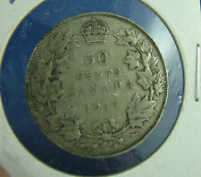 1917 Canada 50 cents silver a nice coin Fine