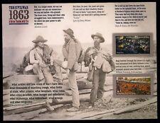2013 - CIVIL WAR - 1863 - #4787-8 - Full Mint NH Imperf Pane (No Die-Cuts)