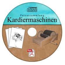 Kardiermaschine selber bauen - Patentsammlung Trommelkarden Technik selbst CD!