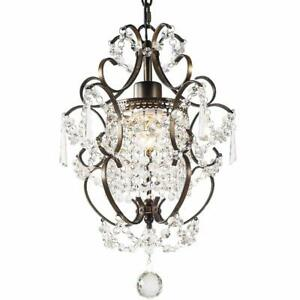 Ganeed Modern Crystal Chandelier Farmhouse Ceiling Light Decor Lamp for Dining L