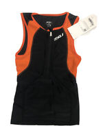 Mens? Compression tri singlet 2XU Sleeveless Cycling Bike Jersey Small S Black