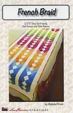 FRENCH BRAID Quilt Bed Runner & Table Runner Pattern by Sew Precious Creations