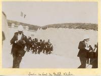 Tunisie, Bizerte, sortie du fort du Djebel Kébir, armée coloniale Française Vint