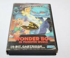 Sega Mega Drive Wonder Boy In Monster World Game