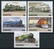 Lesotho Trains Stamps 1984 MNH Railways of World Flying Scotsman Rail 5v Set