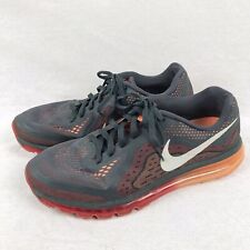 Nike Air Max 2014 Anthracite/Slate-Light Crimson-Atomic Orange Trainers UK 10.5