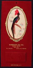 Original 1965 Good Luck Mystery Bird Calendar East Moriches NY