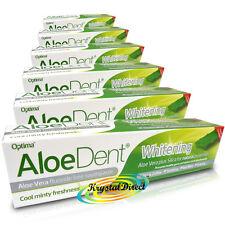 6x Optima Aloe Dent Whitening Aloe Vera Flouride Free Toothpaste 100ml