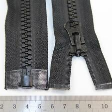 "BLACK 18"" - 40"" INCH CHUNKY ZIP No.8 OPEN END ZIPS HEAVY DUTY  ZIPPER *12 SIZES"