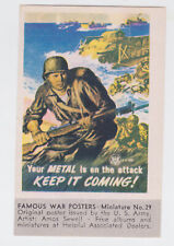 "ORIGINAL WW II ""KEEP IT COMING"" POSTER STAMP/MINI PIC #29 TIDEWATER OIL CO"