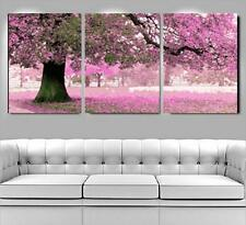 "New DIY Acrylic Paint By Number 20X20"" kit Oil Painting Three Parts Flower Tree"