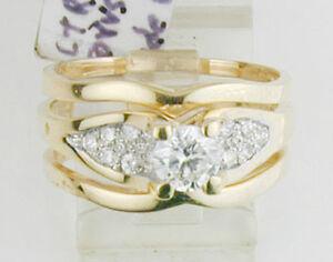 0505 SALE High Setting 0.50 ct Fine Diamond w/Side Diamond Dove Tail Insert 8.5