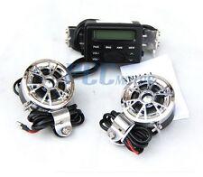 Motorcycle Audio MP3 FM Radio iPod Stereo Chrome Speakers Sound System U TK11