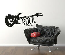 00968 Wall Stickers Sticker Adesivi Murali Decorativi Rock Music 100x37cm