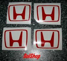 Honda 'H' Decals x 4    Size: 50mm x 40mm
