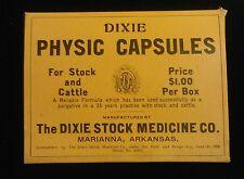 10 DIXIE STOCK REMEDY CARBOARD BOXES  MARIANNA ARKANSAS 1906