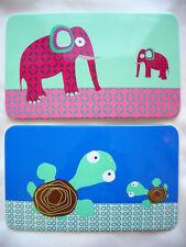 LÄSSIG*Kids*Kinder*Frühstücksbrettchen*Wildlife*Elefant*Schildköte*