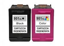 CARTUCCE HP 901XLC + HP 901XLBK RIGENERATE PER STAMPANTI HP J4524 J4535 J4580