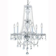 Hanpton Bay Lake Point 6-Light Chrome and Clear Crystal Chandelier