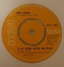 NINA SIMONE - TO BE YOUNG, GIFTED AND BLACK/SAVE ME. UK  RCA 1903/1969 VG