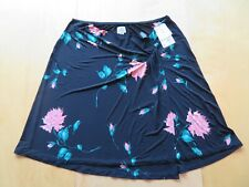 New Holly Robinson Peete Maternity Black & Pink Floral Wrap Skirt Size Large