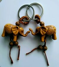 2 You/Boo Lucky Elephant Keychains • Trunk Up • Protection • Guardian • Strength
