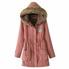 Ladies Womens Hooded Winter Warm Fleece Jacket Trench Parka Padded Long Coat Hot