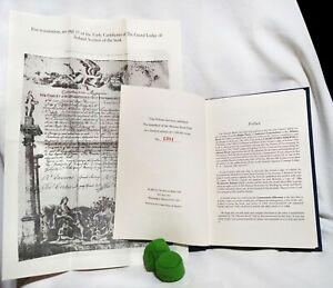 Caementaria Hibernica Limited Edition Book 1900/2002 Irish Freemasonry History