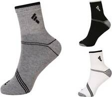 New 3 Pairs Mens Crew Athletic Ankle Cushion Sports Socks Black White Grey Socks