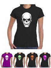 Short Sleeve Skull Graphic T-Shirts for Women