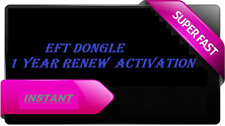 EFT Dongle 1 Year RENEWAL Re Activation FAST