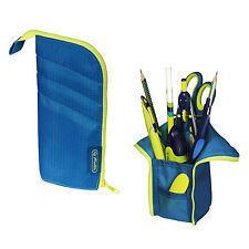 Herlitz Faulenzer my.case blau/lemon Federtasche Schlamperrolle pencil pouch