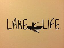 Lake Life Wall Sticker, Fishing,Boat,River,Great Lakes, Nautical Decor, Kayak