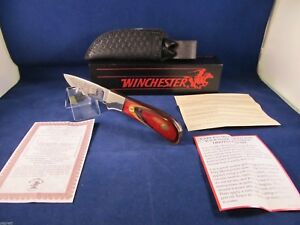 Winchester NAHC Fixed Blade Hunting Knife & Sheath Mint In Factory Box USA