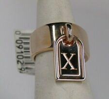 Bronzo Italia Initial Tag Charm Band Ring  Size 5