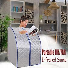 Sauna Portable Pliable à Vapeur infrarouge Avec Couvre-Tête Chaise Salon Steamer