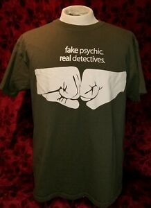 LARGE Psych USA Network TV Show Fake Psychic Real Detectives T-shirt Punk Retro