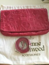 vivienne westwood pink leather clutch cross body