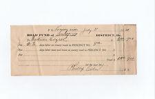 1920 work receipt Looneyville & Smithfield West Virginia signed by Phillip Ellis