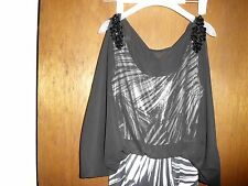 Womens Jus D' Orange Black/White Formal/Cocktail Long Dress Size S NWT