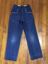 Vintage BSA Cub Scout Uniform Blue Pants Slacks Size Small Boys 21W x 23L Good