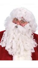 Santa Claus Deluxe Beard Wig & Eyebrows set Fun World for Christmas Costume new