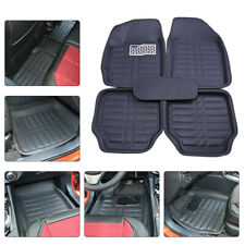 5-Seats Car Floor Mats Front & Rear Liner Waterproof All Weather Universal Black