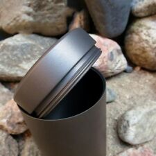 Titanium Alloy Cylinder EDC Storage Box Coffee Tea Cans Emergency Container Case