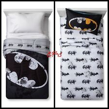 Dc Batman Twin Bedding Reversible Comforter w/ 3Pc Twin Sheet Set ~ Bed In A Bag