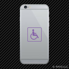 (2x) Handicap Cell Phone Sticker Mobile wheelchair accessible #2 many colors