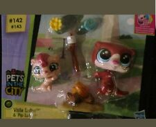 Littlest Pet Shop Pets In The City #142 Vista Lutro & #143 Pip Lutro NIP